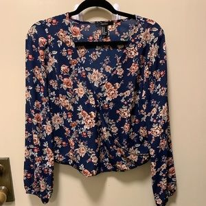 Flower-printed top